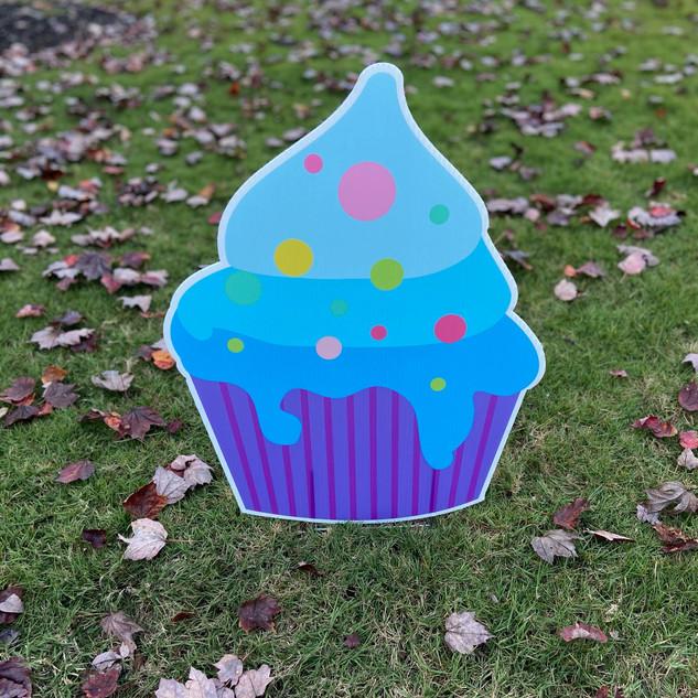 Blue-Purple Cupcake