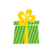 Green Striped Gift