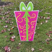 Pink Gift-Yellow Swirls