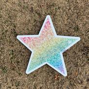 Rainbow Sparkle Star