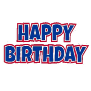 Oversized Red-Blue HBD Sign