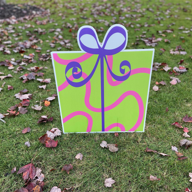 Green Gift-Pink Swirls