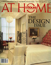 St Louis At Home Magazine with a mention of Zollinger Furniture Company