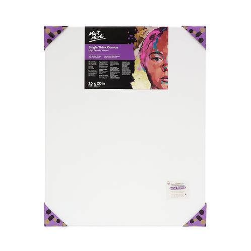 Mont Marte Premium Single Thick Canvas 40.6 x 50.8cm (16 x 20in)