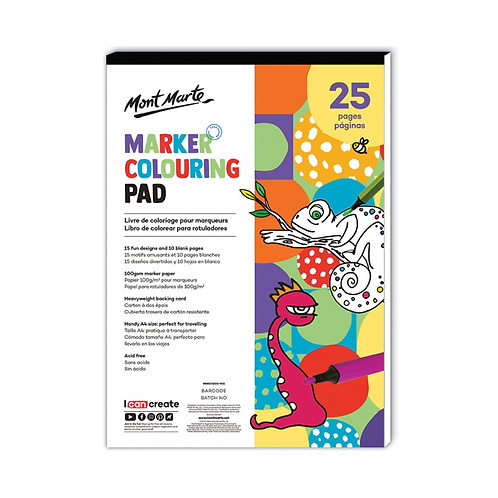 Mont Marte Marker Colouring Pad A4 (8.3 x 11.7in)