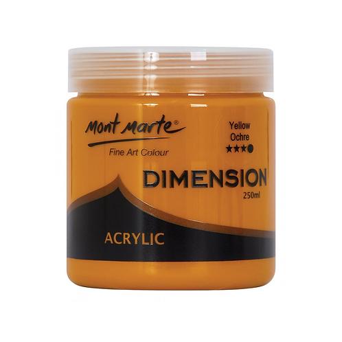 Mont Marte Dimension Acrylic 250ml - Yellow Ochre
