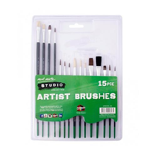 Mont Marte Silver Series Paint Brush Set 15pce