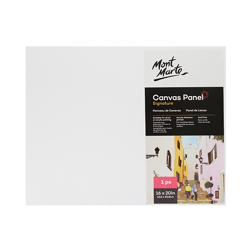 Mont Marte Signature Canvas Panel 1pc 40.6 x 50.8cm (16 x 20in)