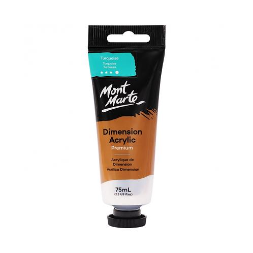 Mont Marte Premium Dimension Acrylic 75ml (2.5oz) - Turquoise