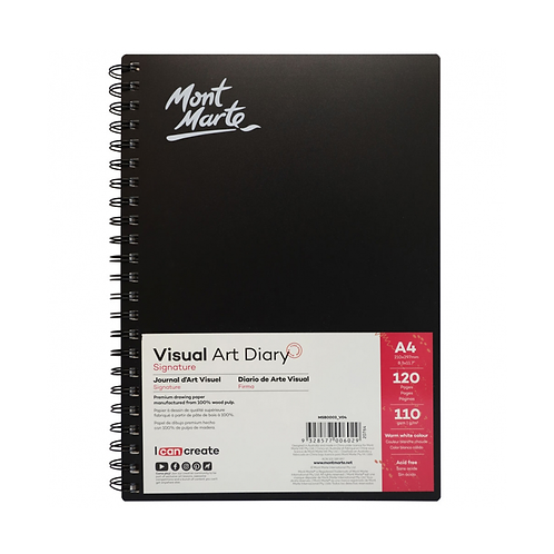 Mont Marte Signature Visual Art Diary 110gsm A4 120 Page