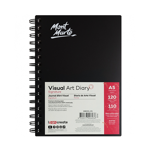 Mont Marte Signature Visual Art Diary 110gsm A5 120 Page