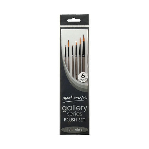 Mont Marte Gallery Series Brush Set 6pce