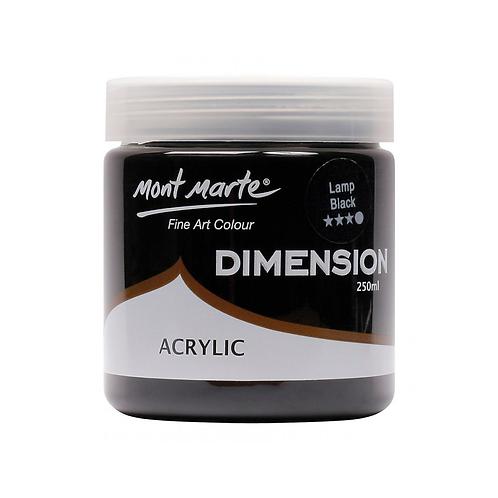 Mont Marte Dimension Acrylic 250ml - Lamp Black