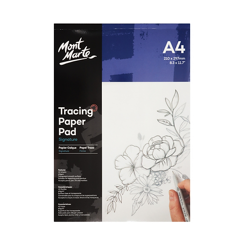 Mont Marte Signature Tracing Paper Pad 60gsm A4 40 Sheet