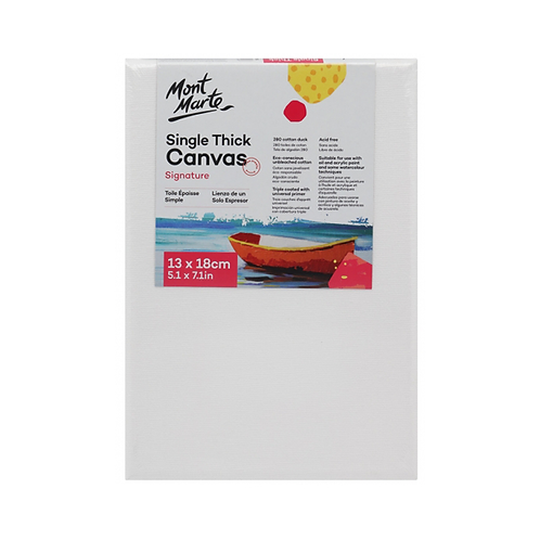Mont Marte Signature Single Thick Canvas 13 x 18cm (5.1 x 7.1in)