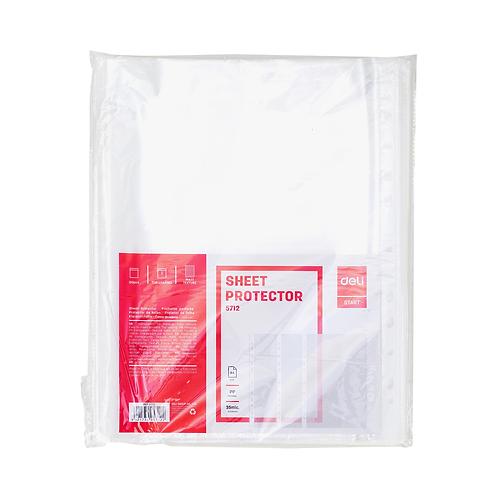 Deli Sheet Protector A4 100 Pcs