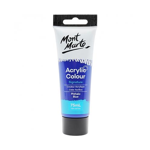 Mont Marte Signature Acrylic Colour 75ml (2.54oz) - Phthalo Blue