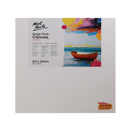 Mont Marte Signature Single Thick Canvas 40 x 40cm (15.7 x 15.7in)