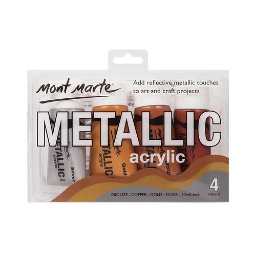 Mont Marte Metallic Acrylic 50ml 4pcs