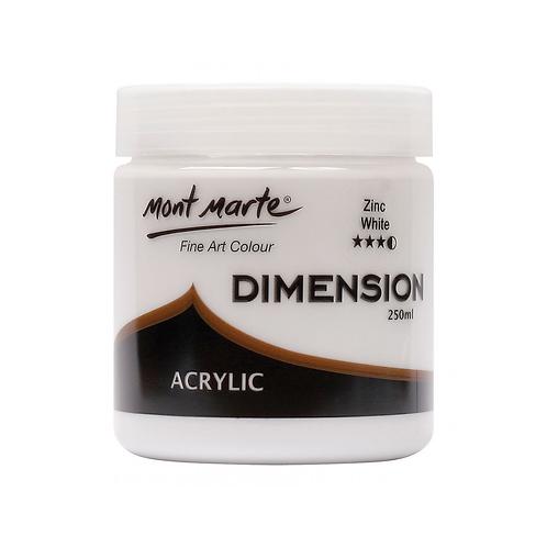 Mont Marte Dimension Acrylic 250ml - Zinc White