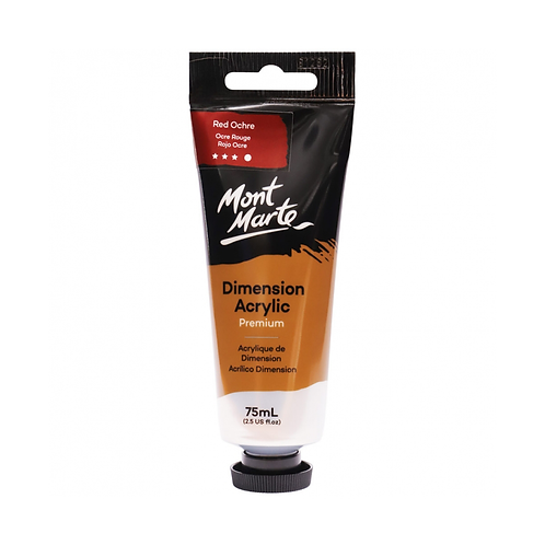 Mont Marte Premium Dimension Acrylic 75ml (2.5oz) - Red Ochre