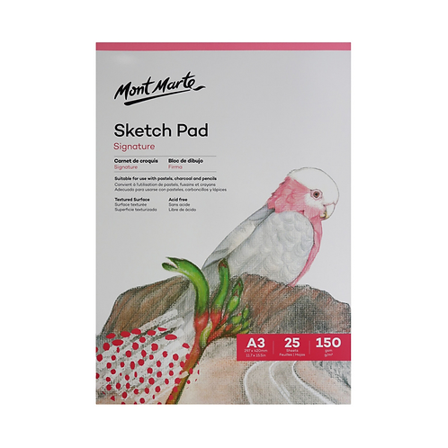 Mont Marte Signature Sketch Pad 150gsm 25 Sheet A3 297 x 420mm (11.7 x 15.5in)