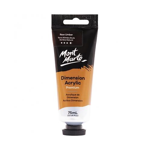 Mont Marte Premium Dimension Acrylic 75ml (2.5oz) - Raw Umber