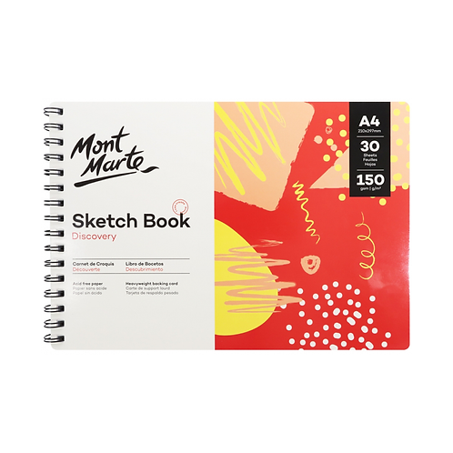 Mont Marte Discovery Sketch Book A4 (8.3 x 11.7in) 30 Sheets 150gsm