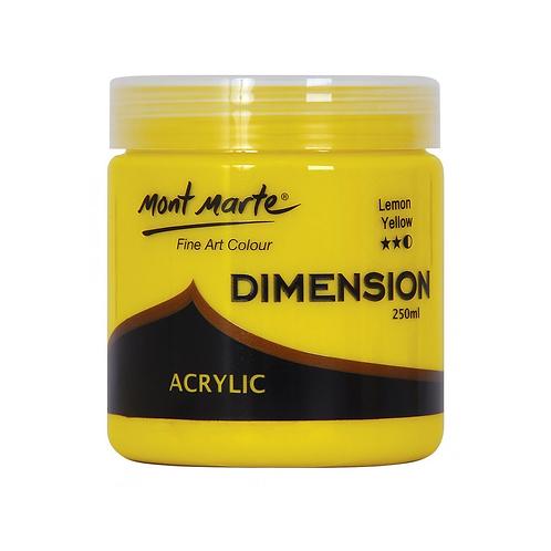 Mont Marte Dimension Acrylic 250ml - Lemon Yellow