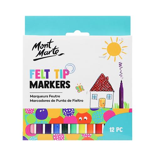 Mont Marte Kids Felt Tip Markers 12pce