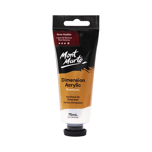 Mont Marte Premium Dimension Acrylic 75ml (2.5oz) - Rose Madder