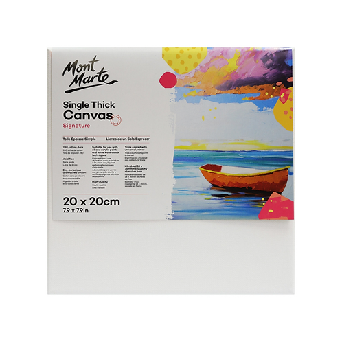 Mont Marte Signature Single Thick Canvas 20 x 20cm (7.9 x 7.9in)