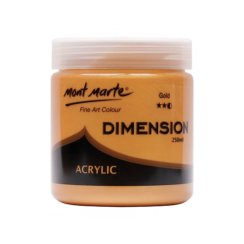 Mont Marte Dimension Acrylic 250ml - Gold