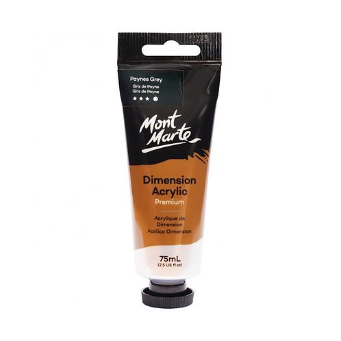 Mont Marte Premium Dimension Acrylic 75ml (2.5oz) - Paynes Grey