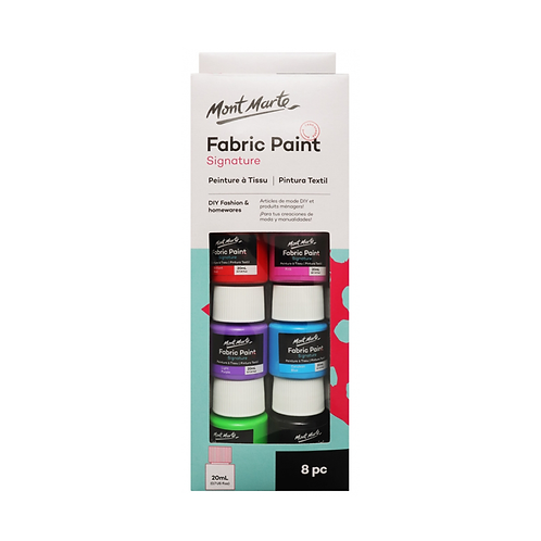 Mont Marte Fabric Paint Set 8pce x 20ml