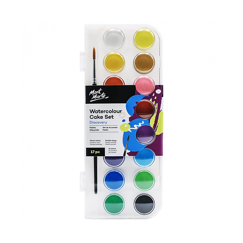 Mont Marte Discovery Watercolour Cake Set 17pc