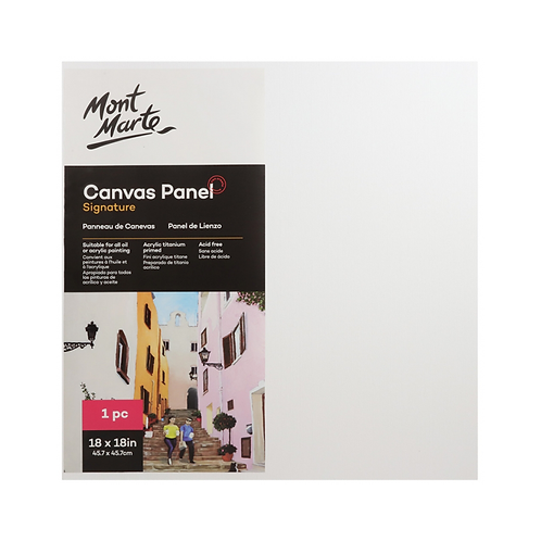 Mont Marte Signature Canvas Panel 1pc 45.7 x 45.7cm (18 x 18in)