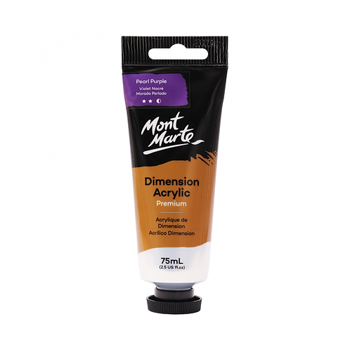 Mont Marte Premium Dimension Acrylic 75ml (2.5oz) - Pearl Purple