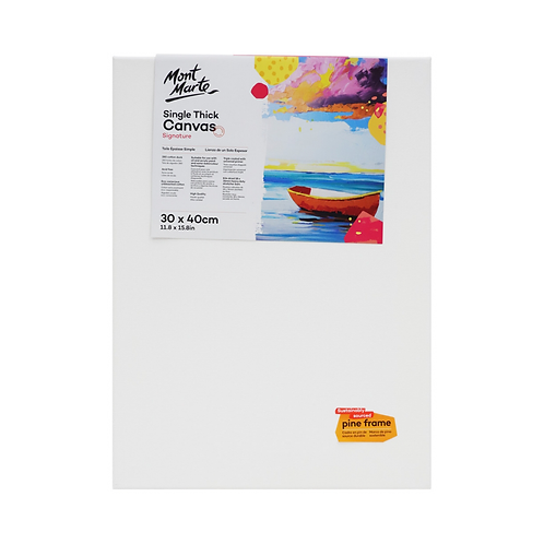 Mont Marte Signature Single Thick Canvas 30 x 40cm (11.8 x 15.8in)