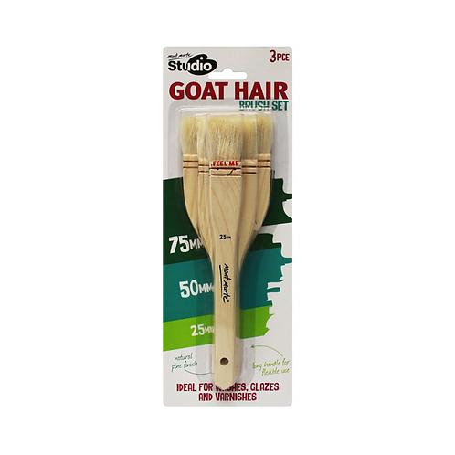 Mont Marte Studio Goat Hair Brush Set 3pce