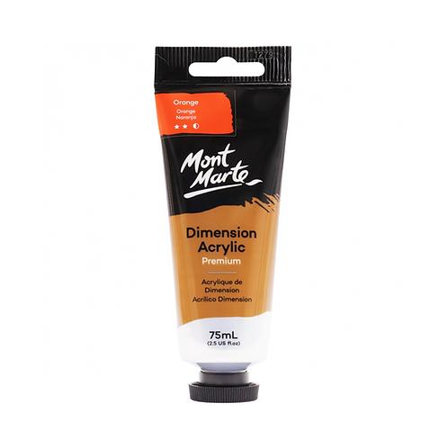 Mont Marte Premium Dimension Acrylic 75ml (2.5oz) - Orange