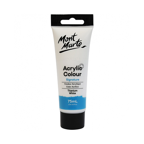 Mont Marte Signature Acrylic Colour 75ml (2.54oz) - Titanium White