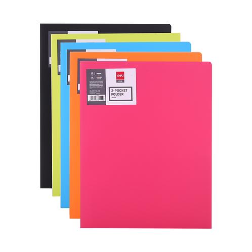 Deli 2 Pocket Folder A4