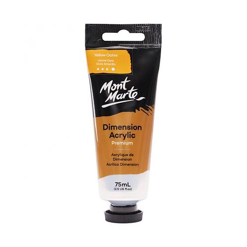 Mont Marte Premium Dimension Acrylic 75ml (2.5oz) - Yellow Ochre
