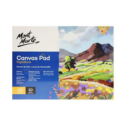Mont Marte Signature Canvas Pad 10 Sheet A3 (11.7 x 16.5in)