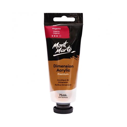 Mont Marte Premium Dimension Acrylic 75ml (2.5oz) - Magenta