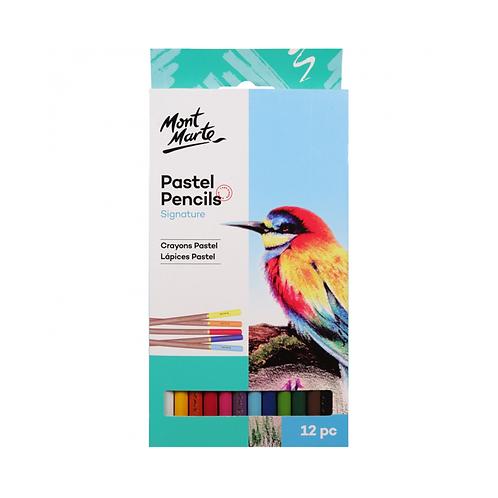Mont Marte Signature Pastel Pencils 12 Colours