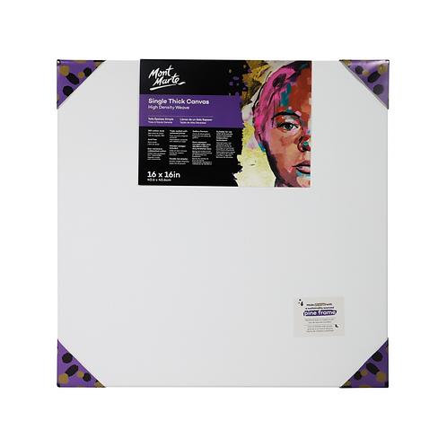 Mont Marte Premium Single Thick Canvas 40.6 x 40.6cm (16 x 16in)