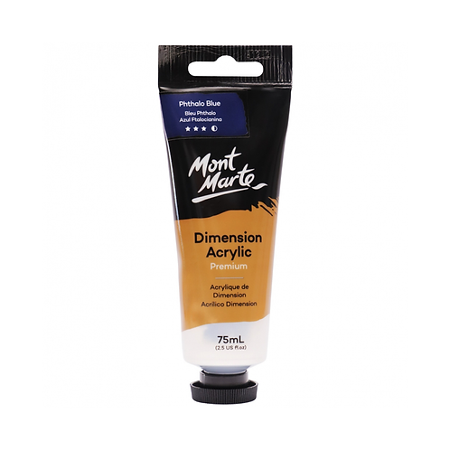 Mont Marte Premium Dimension Acrylic 75ml (2.5oz) - Phthalo Blue