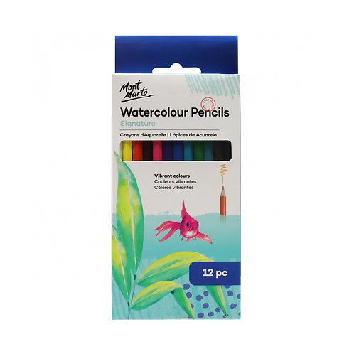 Mont Marte Signature Watercolour Pencils 12pce